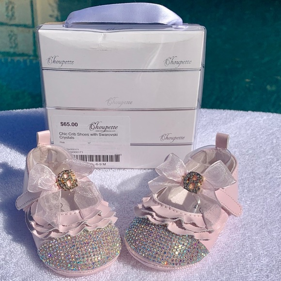 Baby Shoes With Swarovski Crystals